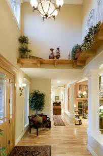 High ceiling in the very beginning of the entryway soars up to a high