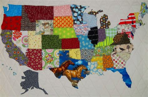 united states road map fabric usa patchwork map quilt pattern from quilts by