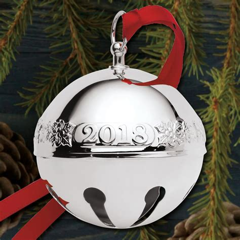 wallace silver bell 2018 2018 wallace sleigh bell 24th edition sterling ornament sterling collectables