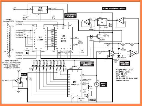diagram of oscilloscope pc based oscilloscope circuit diagram electronic