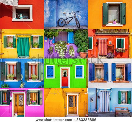 colorful doors collage stock photo image 41305174 royalty free collage set of 12 colorful windows and