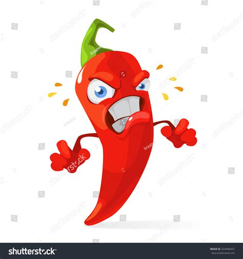 funny hot pepper images red chili pepper funny cartoon character stock vector
