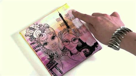 acrylic paint transfer acrylic painting tutorial collage and transfer on canvas