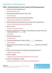 Shakespeare Worksheet Answers