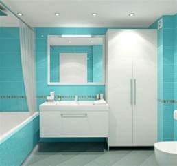 Supérieur Salle De Bain Blanche Et Beige #2: 1salle-de-bain-turquoise-et-blanc-mobilier-moderne-lampe-baignoire-miroir-e1486997973685.jpg