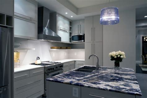 Kitchen With Blue Countertops by Blue Granite Countertop Kitchen With Blue