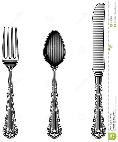 Cool Flatware Vintage Fork Clipart Clipart Suggest