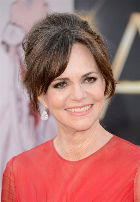 photos of sally fields hair updo for older women age over 60 slightly bouffant updo