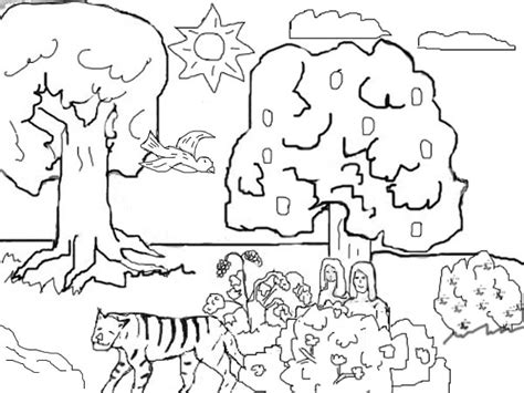 Adam And Eve In The Garden Of Eden Coloring Pages sketch template