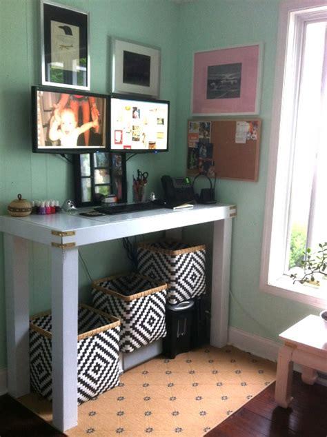 build a standing desk home depot belladwella diy standing parsons desk