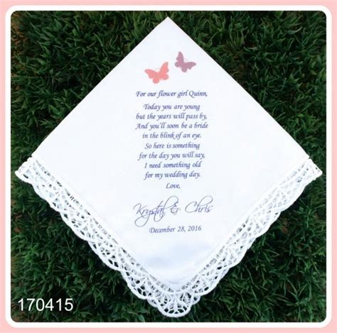 lace handkerchief wedding invitations wedding handkerchief flower gift print customize lace