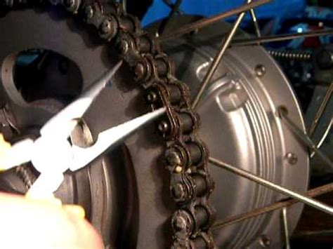 cadena moto colocar sacando seguro de cadena en xtz 125 youtube