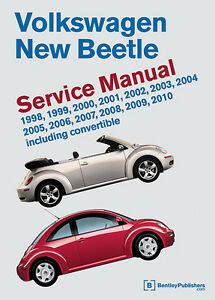 bentley workshop service repair manual book volkswagen new beetle 1998 2010 ebay