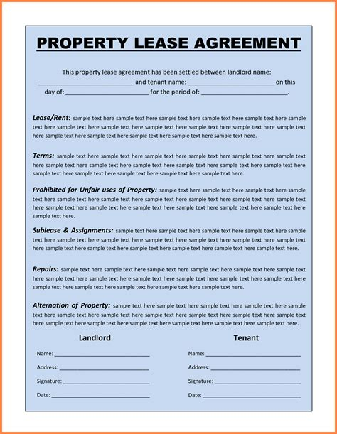 rental lease agreement template free 13 commercial lease agreement template word purchase