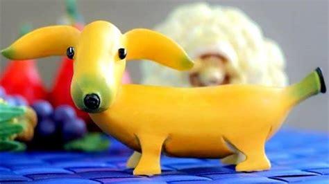puppy banana how to make banana banana fruit carving banana garnishes