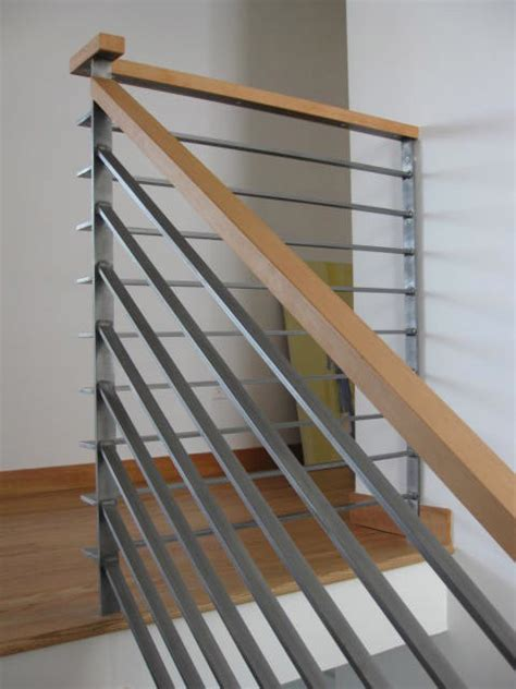 contemporary banister modern wood railing