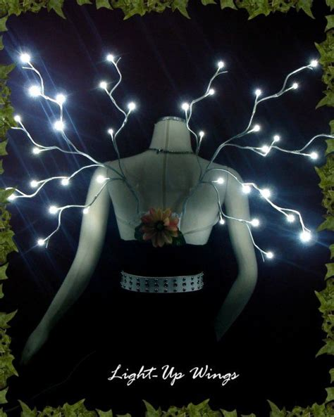Light Up Fairies Led Lightup Wings White By Artchicinc On Etsy 175 00 That Might Be Cooler Than A