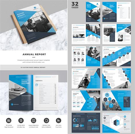 15 Annual Report Templates With Awesome Indesign Layouts Annual Business Report Template
