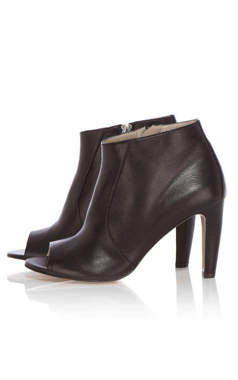 millen leather peep toe shoe boot in black lyst
