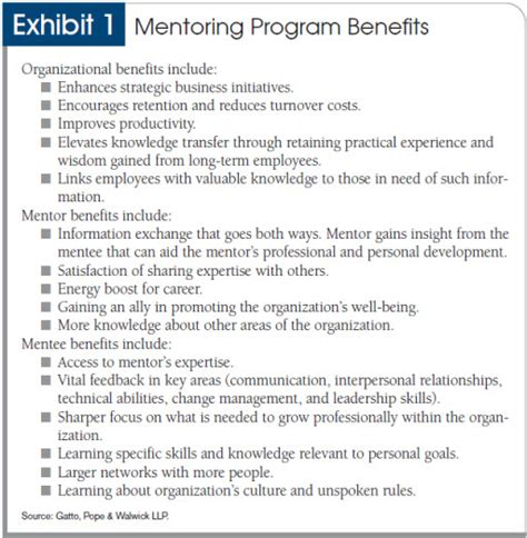how to start and run a mentoring program