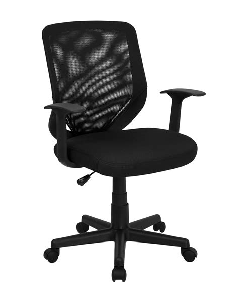 black mesh office chairs mid back black mesh office chair with mesh fabric seat by