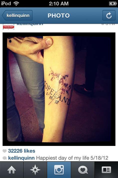 kellin quinn tattoos kellin quinns his s name