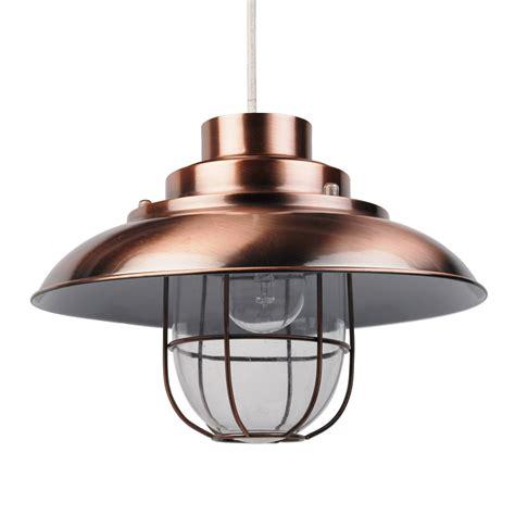 Copper Shade Pendant Light Contemporary Copper Fishermans Ceiling Light Pendant Shade Lshade Industrial Ebay