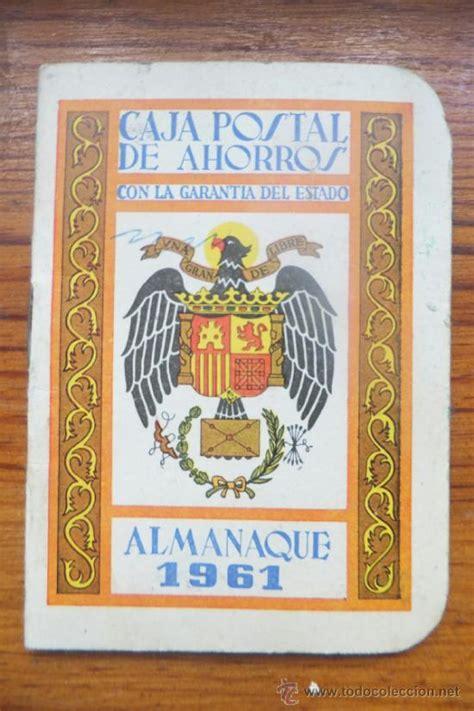 Calendario De 1961 Almanaque Caja Postal Ahorros Correos 1961 Comprar