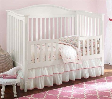 Pink Crib Bed Skirt Brand New Pottery Barn White Ruffle Crib Bed Skirt With Pink Ribbon Pottery Barn