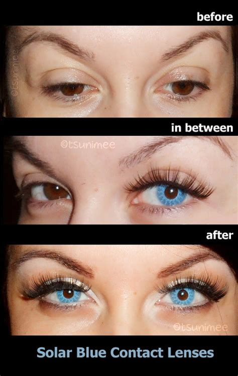 colored contacts before and after color contact lenses before and after www pixshark