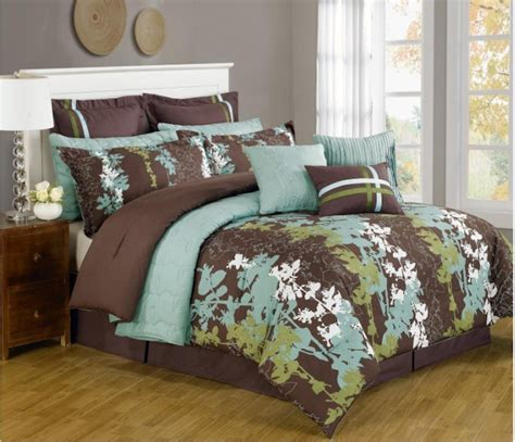 brown and green comforter cheap blue and brown bedding sets comforter brown