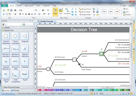 engineering drawing tree template decision tree software edraw