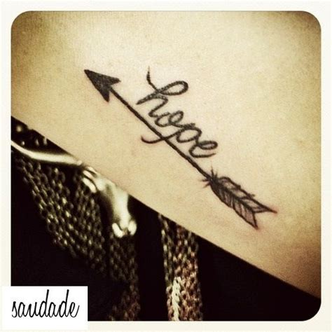 small hope tattoos the i want with saudade instead of the font