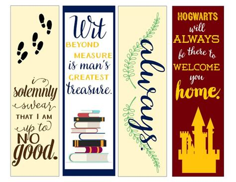 printable outlander bookmarks best 25 harry potter printable bookmarks ideas on