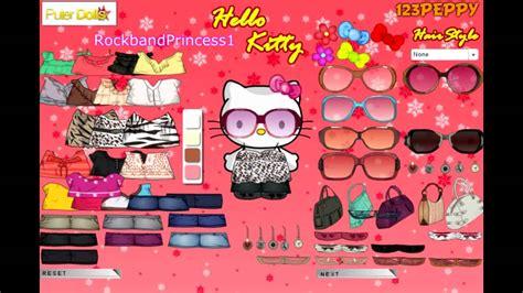 game design your hello kitty dress hello kitty online games hello kitty dress up game youtube