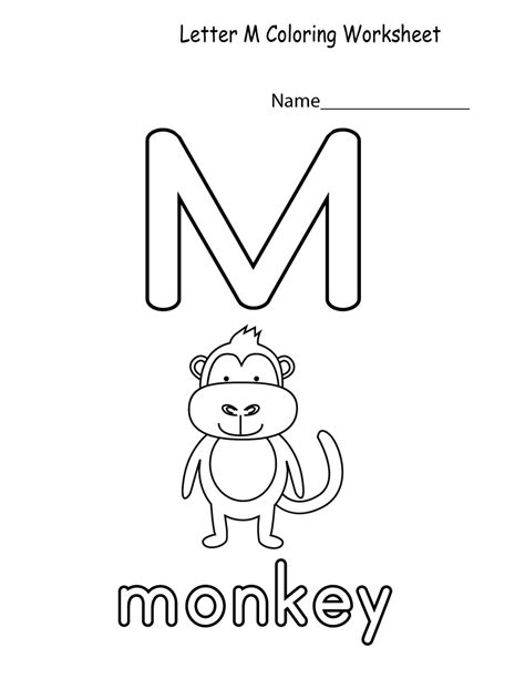 words of alphabet m mustaches and monkey free alphabet letter m worksheets practice kiddo shelter