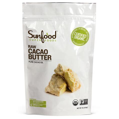 Cacao Butter 225 Gram sunfood cacao butter 1 lb 454 g iherb