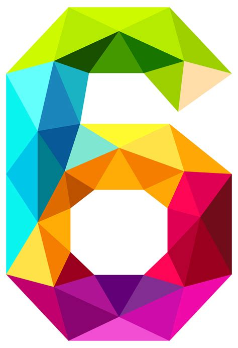 Pouch Kosmetik Transparant 3 In 1 colourful triangles number six png clipart image gallery yopriceville high quality images