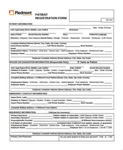 pdf registration form template sle patient registration form 8 free documents