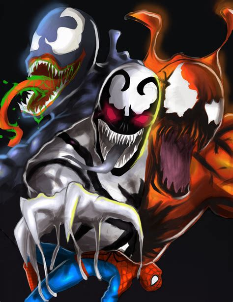 Funko Spider Anti Venom Fu6181 carnage and anti venom glam popvinyls