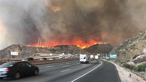 highway  closed  ventura county ca due  wildfire