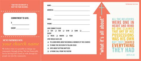 church finacial pledge cards template pledge and welcome cards church offering envelopes by