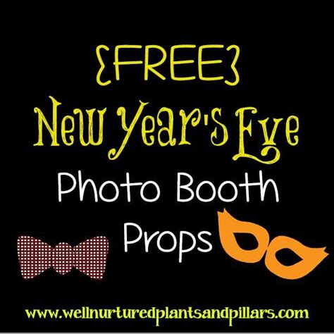 new year photo booth props printable 17 best images about new year s on new