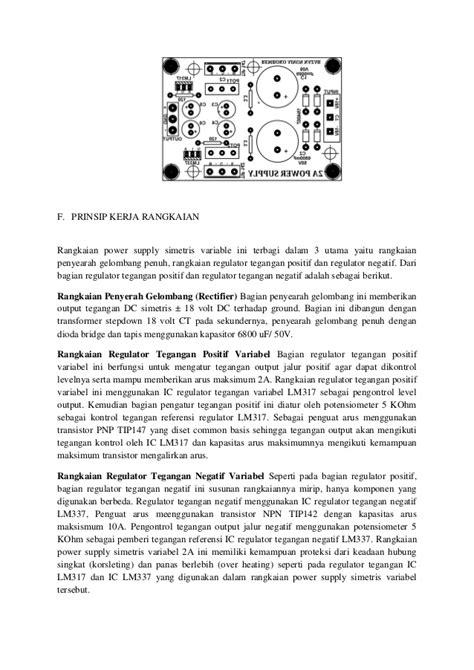 dioda mur 120 laporan power supply