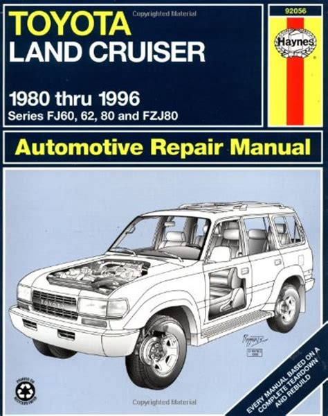 Toyota Landcruiser 80 Series Workshop Manual Free Toyota Land Cruiser Fj60 62 80 Fzj80 80 96 Haynes