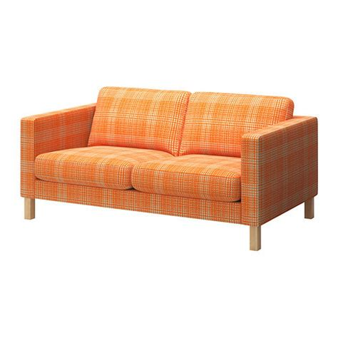 orange slipcover ikea karlstad 2 seat loveseat sofa slipcover cover husie