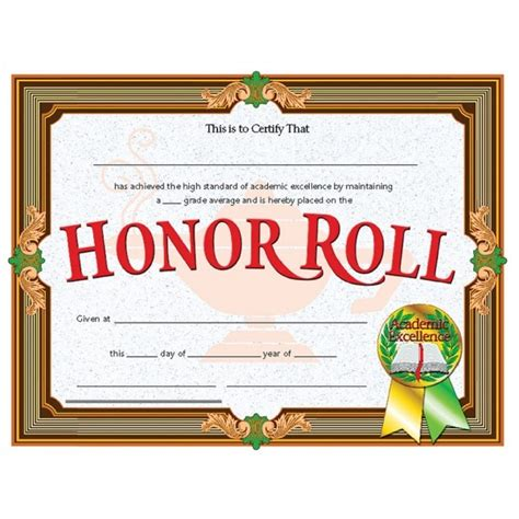 a b honor roll certificate template honor roll certificate templates invitation template