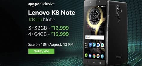 Exclusive Calculator Gaxio Gx5500 4gb exclusive lenovo k8 note to go on sale tomorrow zee business