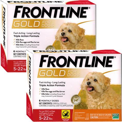 frontline gold for dogs frontline 174 gold for dogs 5 22 lbs orange 12 month healthypets