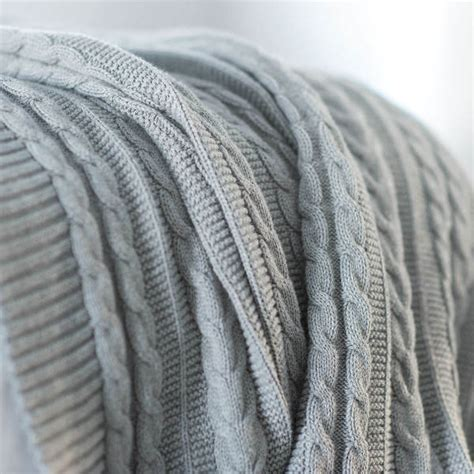 grey cable knit throw blanket cable knit throw grey organic blanket boll branch